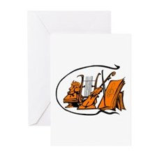 bust orange lyre violin sheet music design Greetin