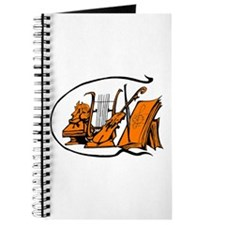 bust orange lyre violin sheet music design Journal