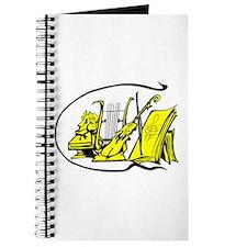 bust yellow lyre violin sheet music design Journal