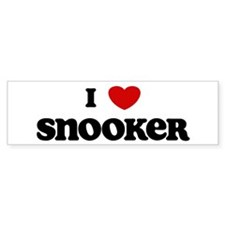 I Love Snooker Bumper Car Sticker