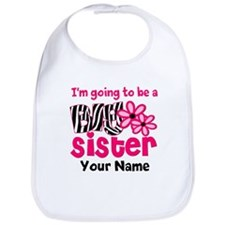 Big Sister To Be Zebra Bib