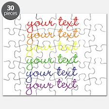 roygbiv cursive Puzzle