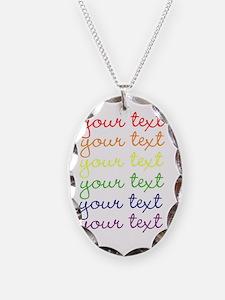 roygbiv cursive Necklace