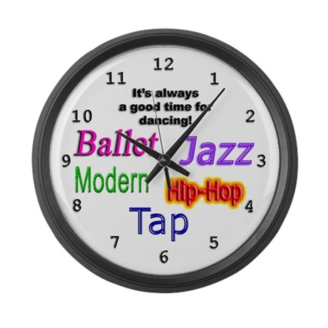 Dance Styles #1 Large Wall Clock