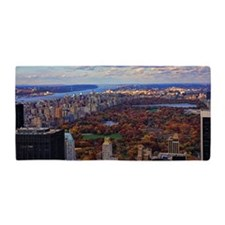 Central Park, A view from above Beach Towel