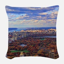 Central Park, A view from above Woven Throw Pillow