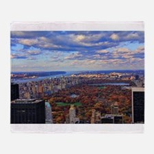 Central Park, A view from above Throw Blanket