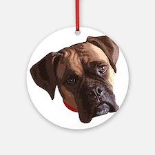 Boxer face 002 Ornament (Round)