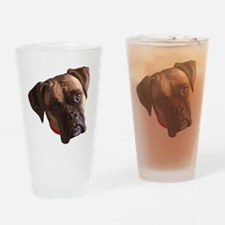 Boxer face 002 Drinking Glass