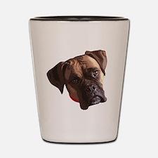 Boxer face 002 Shot Glass