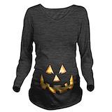 Jack o lantern Dark Long Sleeve Maternity T-Shirt