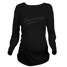 Vintage Super Mom Long Sleeve Maternity T-Shirt