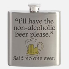 Said No One Ever: Non-Alcoholic Beer Flask