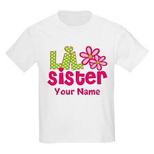 Lil Sister Pink Green T-Shirt
