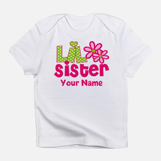 Lil Sister Pink Green Infant T-Shirt