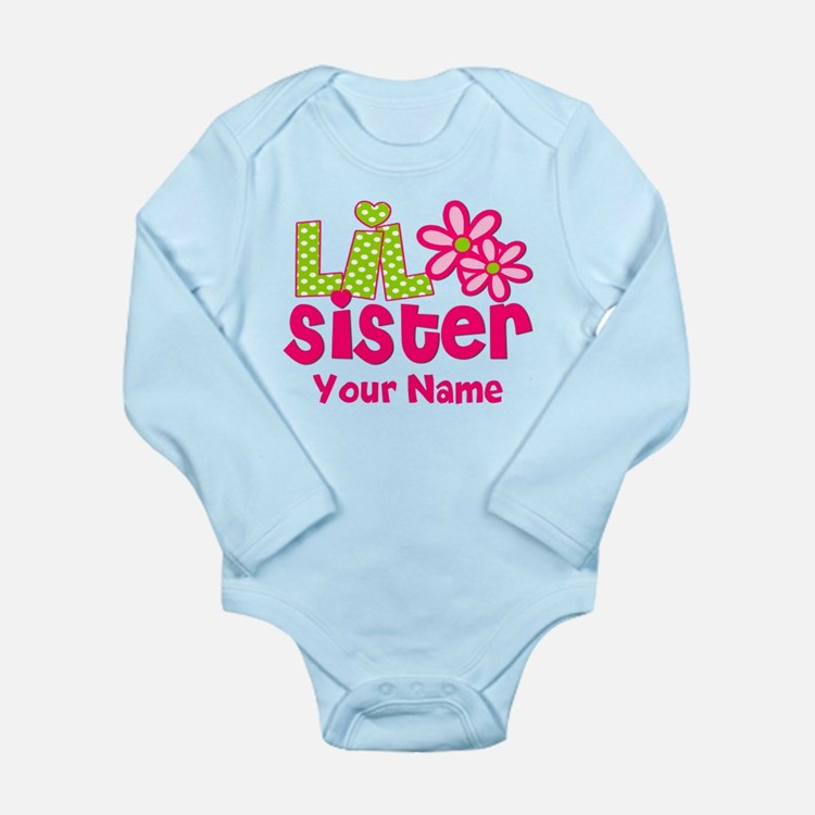 Lil Sister Pink Green Body Suit