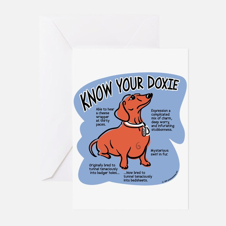Know your dachshund Greeting Cards (Pk of 20)
