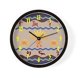 Northwest coast native art Wall Clocks