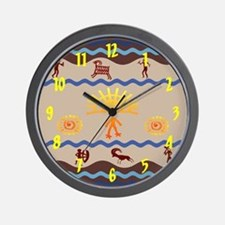 Spirit Path Rock Art Wall Clock
