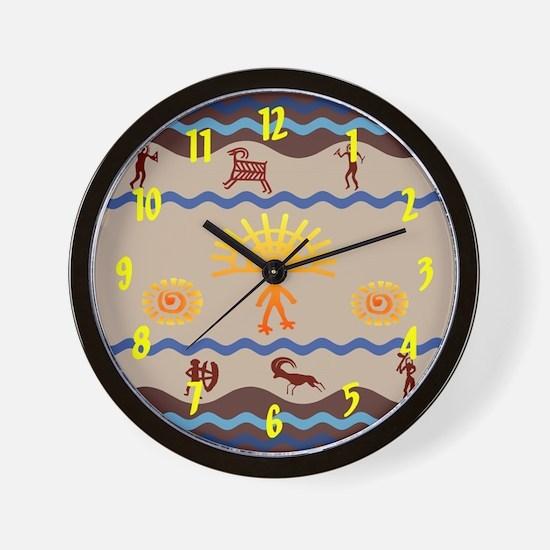 Spirit Path Rock Art Wall Clock