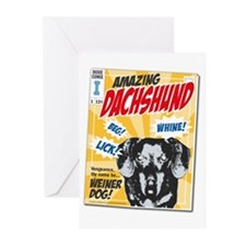 Amazing Dachshund Comics Greeting Cards (Package o