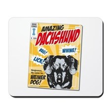 Amazing Dachshund Comics Mousepad