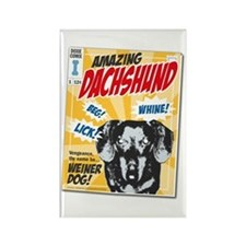 Amazing Dachshund Comics Rectangle Magnet