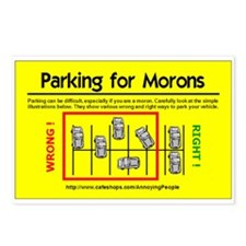 Parking for Morons Postcards (8)