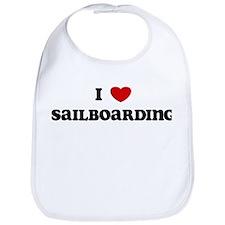 I Love Sailboarding Bib
