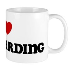 I Love Sailboarding Mug