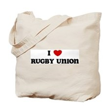 I Love Rugby Union Tote Bag