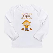 Scarecrow I Love Opa Long Sleeve T-Shirt