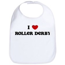 I Love Roller Derby Bib