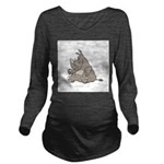 RHINO vvMAD copy.jpg Long Sleeve Maternity T-Shirt