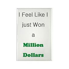 Millionnaire Rectangle Magnet