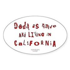 Dada Alive & Living Oval Decal