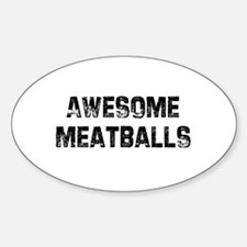 Awesome Meatballs Oval Decal