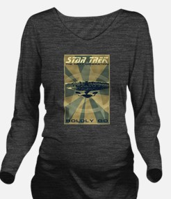 Retro Star Trek:TNG Poster Long Sleeve Maternity T