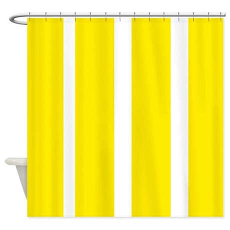 Yellow Stripes Shower Curtain By Erics Designz