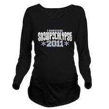 I Survived Snowpocalypse 2011 Long Sleeve Maternit