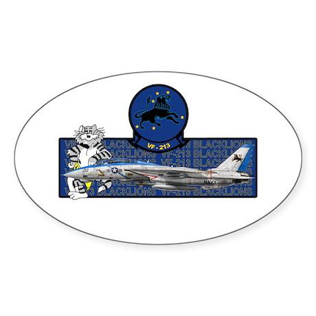VF-213 Blacklions Oval Sticker