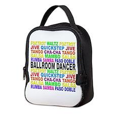 Ballroom Words Neoprene Lunch Bag
