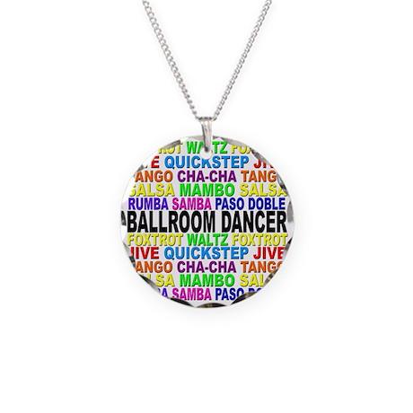 Ballroom Words Necklace Circle Charm