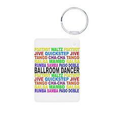 Ballroom Words Aluminum Photo Keychain