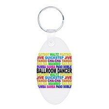 Ballroom Words Aluminum Oval Keychain