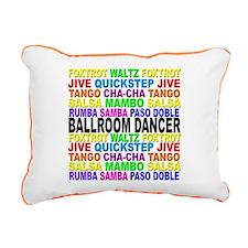 Ballroom Words Rectangular Canvas Pillow