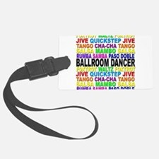 Ballroom Words Luggage Tag
