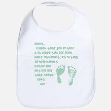 Daddy, Blue Foot Prints Bib