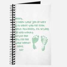 Daddy, Blue Foot Prints Journal