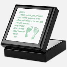 Daddy, Blue Foot Prints Keepsake Box